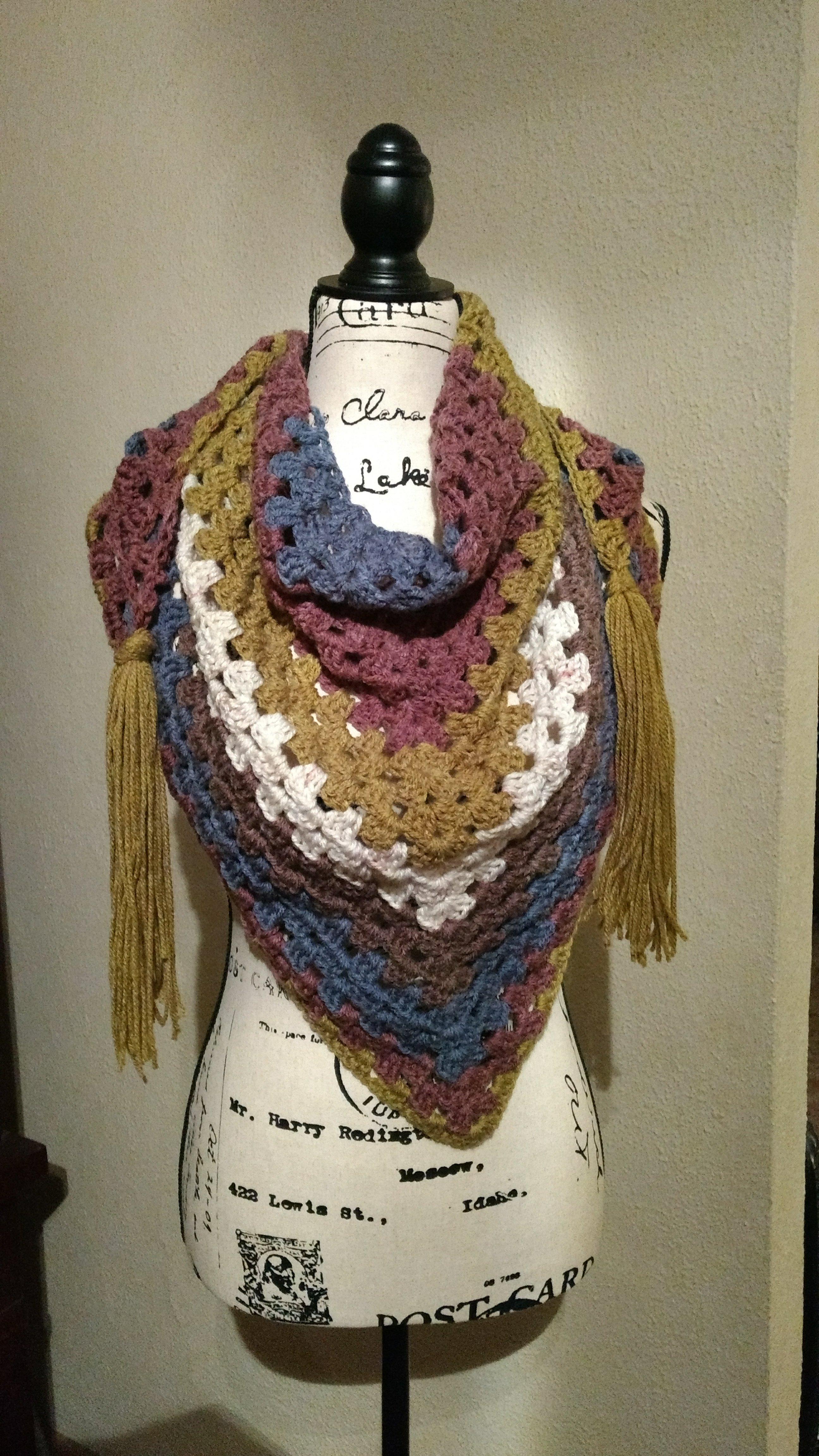 Granny Triangle Scarf – Impatient Crochet